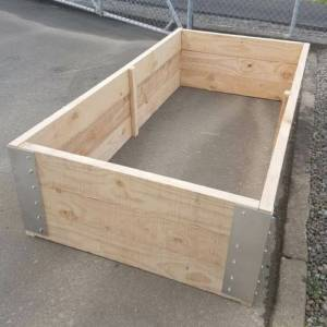 pine raised garden bed