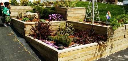 raise dgarden beds and terraced garden